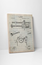 Edison Phonograph Patent Gallery Wrapped Canvas Print. BONUS WALL DECAL! - $44.50+
