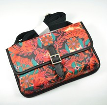 FOSSIL Keyper Mini Cross-body Bag Floral Coated Canvas Multi-color - $35.00