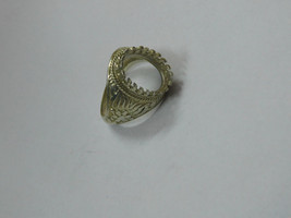 925 sterling Silver mount Ring, Oval- 10X14 mm,RI-0301,ring,all size ava... - $17.00