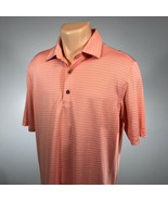 Bobby Jones M Golf Polo Mens X-H20 Size Medium Coral Orange Shirt - $22.29