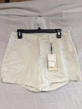 Calvin Klein Women's White Linen-Blend Shorts Casual Shorts Size 27 - $31.18
