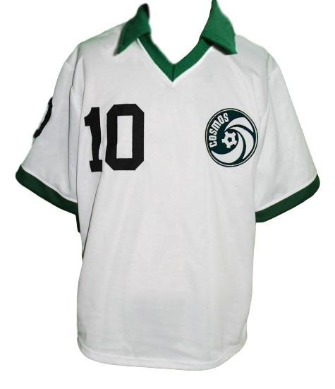 Pele 10 cosmos soccer football jersey white  2