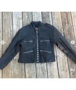 Stylish Women Black Studded  Leather Formal Jacket - $155.99+