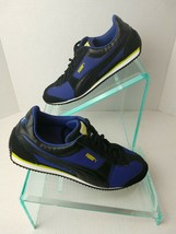 Puma Womens Leather/Suede Sneakers. Black/Blue. Sz 9.  A3 - $24.99