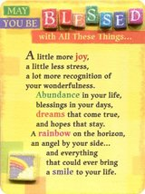 Blue Mountain Arts May You be Blessed with All These Things Miniature Ea... - $12.82