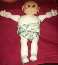 Vintage  Soft Cabbage Patch Kids Bald Headed Baby Doll Thomas 1984 New Born - $32.18