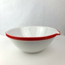 "Dansk Large Serving Mixing Bowl Dish Red White Pour Portugal Decor 14"" x... - $24.71"