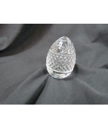 """Egg Shaped Paperweight Cut Crystal Glass Made In France 4"""" - $24.69"""