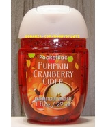 Pumpkin Cranberry Cider Pocketbac Antibacterial Sanitizing Gel Bath Body... - $5.00
