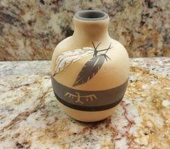 VINTAGE Desert Pueblo GREY FEATHER Art Pottery SIGNED 1984 RARE ** - $43.39