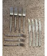 11 Mikasa 18/10 Stainless ROCKFORD DINNER FORKS, Knives And Salad Forks - $48.51
