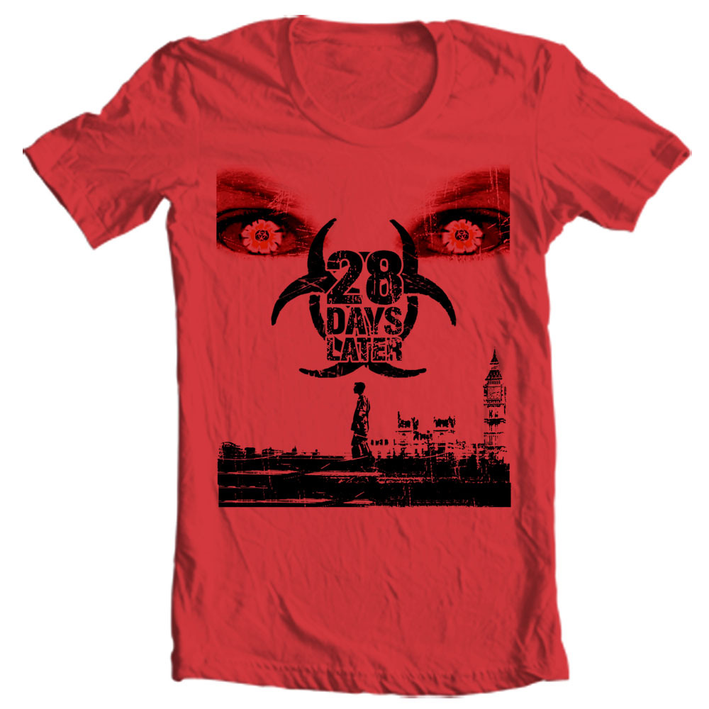 Er 28 weeks later t shirt zombies horror moive terror film graphic tee for sale online tee store