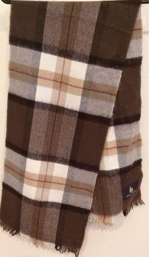 Vintage High Sierra Woolen Scarf By Mervyns Plaid Excellent Condition Very Soft - $17.81