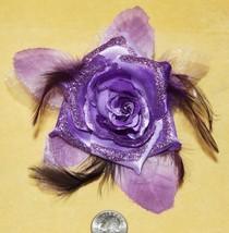 Purp Flower Glitter Hippie Boho Feather Tribal Belly Dance Dancing Hair ... - €3,08 EUR