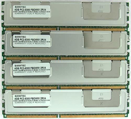 Simmtec 16GB (4X4GB) Memory for Apple MAC PRO DDR2 PC2-5300 667MHz ECC Fully BUF - $58.41