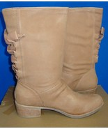 UGG Australia CARY Putty Leather Corset BOW at Back Boots Size US 12 NIB... - $66.28