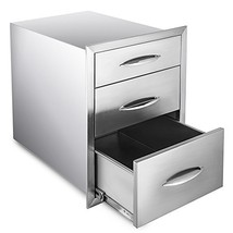 Mophorn 14''x 20.25''Outdoor Kitchen Drawer Stainless Steel BBQ Storage ... - $315.40