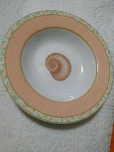 Vintage Victoria & Beale AtlantisRim Soup Bowls 9044 Peach Band, Shell Center(4) - $27.96