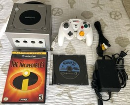 ☆ Nintendo GameCube Platinum Silver Console System Bundle 2 Games Lot Wo... - $66.50