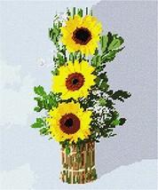 pepita Three Sunflowers Needlepoint Canvas - $74.00