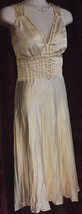 Charlotte Russe Pale Antique Pink Beaded Retro Slinky Dance Dress Size M NEW - $18.50