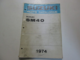 1974 Suzuki Snowmobile SM40 Parts Catalog Manual FACTORY OEM x - $69.25