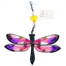 Regal Art & Gift Hand Painted Metal Glass Dragonfly Sun Catcher Suncactcher image 2