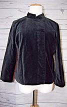 Isaac Mizrahi for Target Women's 3/4 Sleeve Velveteen Jacket Size L Black - $14.54