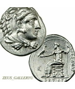 ALEXANDER the Great Rare Drachm with BASI?EOS Herakles Ancient Greek Sil... - $535.50