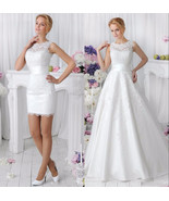 Lace Wedding Dress With Detachable Skirt at Bling Brides Bouquet online ... - $499.99
