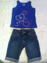Girls-Lot of 2-Size 7-Faded Glory top-Flower Girl-Size7/8 shorts - $14.79