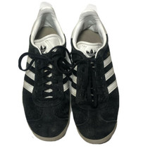 Adidas Gazelle Suede Shoes Sneakers Core Black White/Gold Metallic Size US 7.5 - $23.36