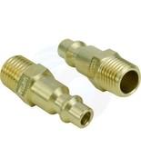 2pcs Brass Air Fittings 1/4 NPT Male Milton M type Plug 727 Connector - $4.89