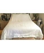 Pottery Barn Linen Queen King Approx 98x104 White Duvet Cover  NWOT #34 - $129.00