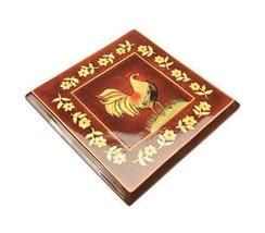 Blonder Home Kimberly Poloson Rooster Floral Country Trivet - $12.95
