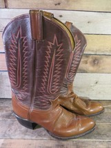 TONY LAMA Western Boots Brown Cowboy Style 6210 Men's Size 9.5 A - $49.49