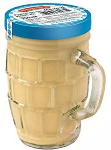 Hengstenberg Medium Hot Imported German Mustard 9.2 oz in Stein Glass Mug Jar