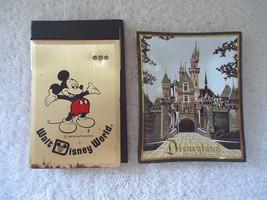 Vintage Lot Of 2 Disney Items,1,WDW Metal Note Pad Holder,1,Disneyland Ash Tray - $24.99