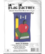 Flag Factory Pattern 63880 Back to School book apple yard porch fabric D... - $7.77
