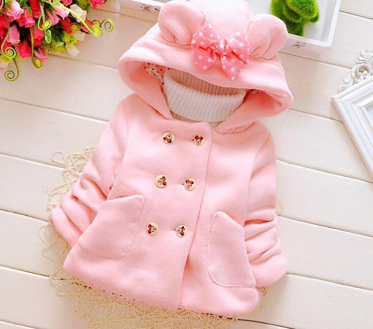 2017 New Autumn Winter Girls Infant Double Breasted Hooded Princess Jacket Coats for sale  USA