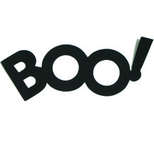Word Boo Cutouts Plastic Shapes Confetti Die Cut FREE SHIPPING - £5.31 GBP