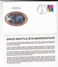 STS-68 ENDEAVOUR EDWARDS AFB CA OCTOBER 11 1994 WITH INSERT CARD - $1.78