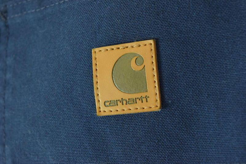NWT CARHARTT Blue Cotton Dungaree Fit Carpenter Work Pants Mens Size 44 x 32 image 6