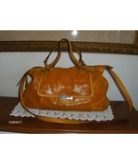 B. Makowsky Satchel Lombard Lizard Dandelion Leather Purse Shoulder Bag ... - $79.97