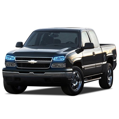 Primary image for FLASHTECH for Chevrolet Silverado 03-06 Blue Single Color LED Halo Ring Headligh