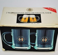 WARSTEINER 2 Mini-Henkelglaser Mini Beer Mugs NIB       C2 - $37.39