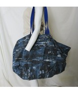 New Large Yoga Bag for Mat Blanket Blocks Handmade BAG ONLY Blue Tropica... - $29.65