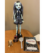 Monster High Doll Frankie Stein First Wave Purse Dog Diary Brush Rerelease 2015 - $65.66