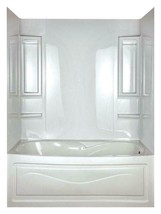 Peerless Vantage 5-Piece Bathtub Wall Surround, White - $128.69