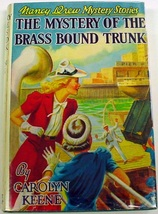 Nancy Drew Mystery of the Brass Bound Trunk no.17 1960B-42 Near Fine boo... - $18.00